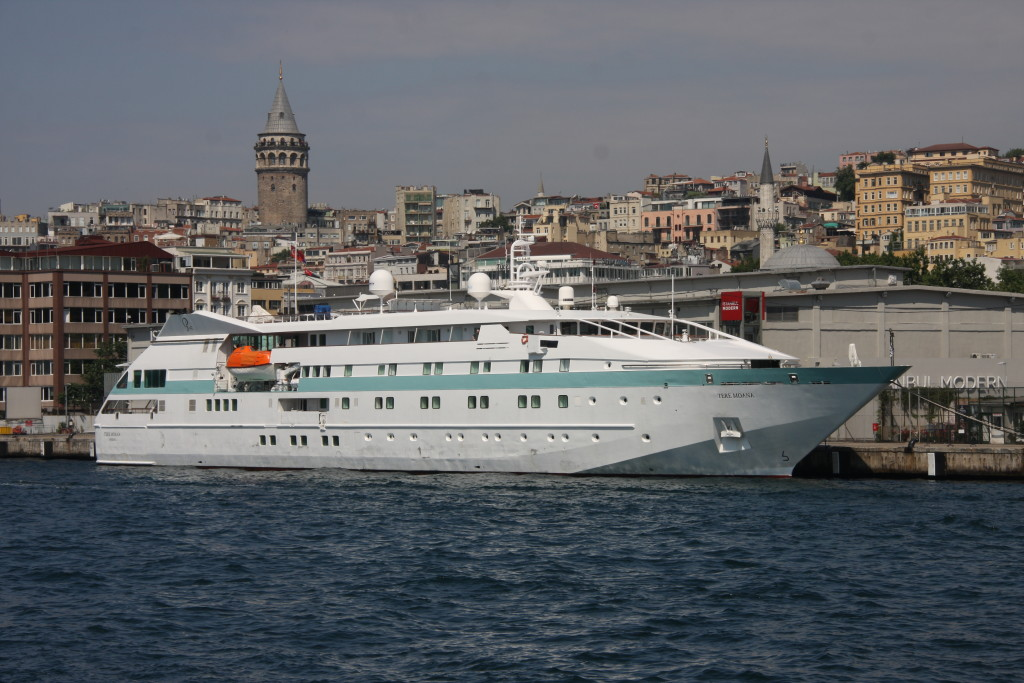88 passenger Tere Moana is docked at Istanbul. * Photo: Ted Scull
