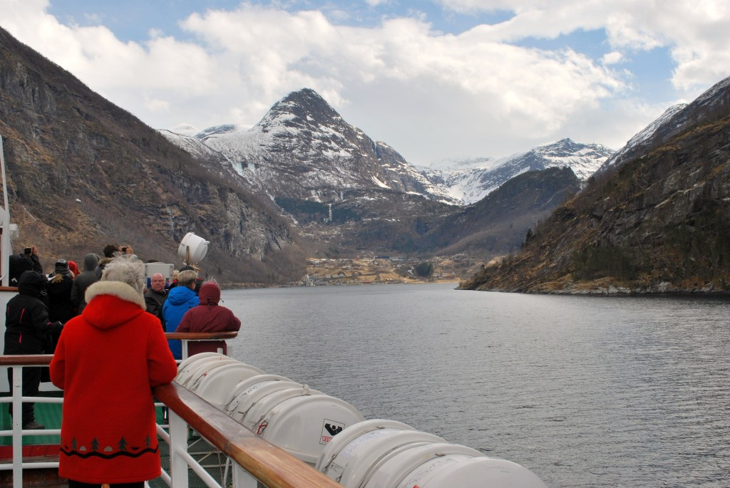 Sailing deep into the Geirangerfjord. * Photo: Ted Scull