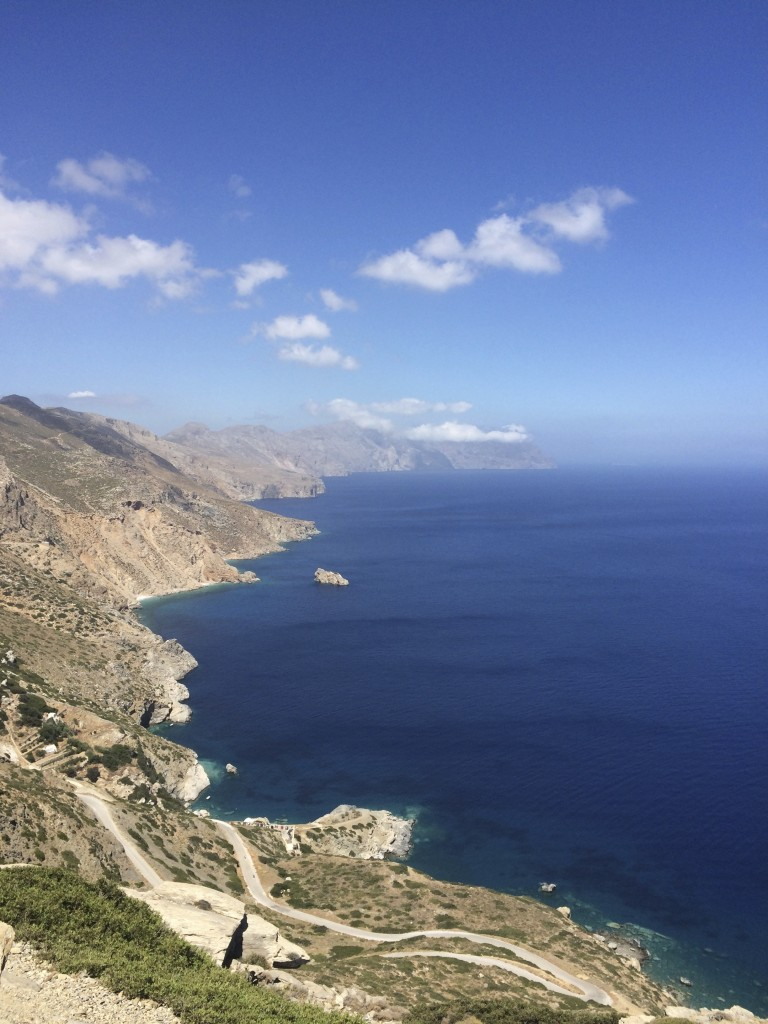 Gorgeous Amorgos, an amazing place to rent a motor scooter. Photo credit: Heidi Sarna