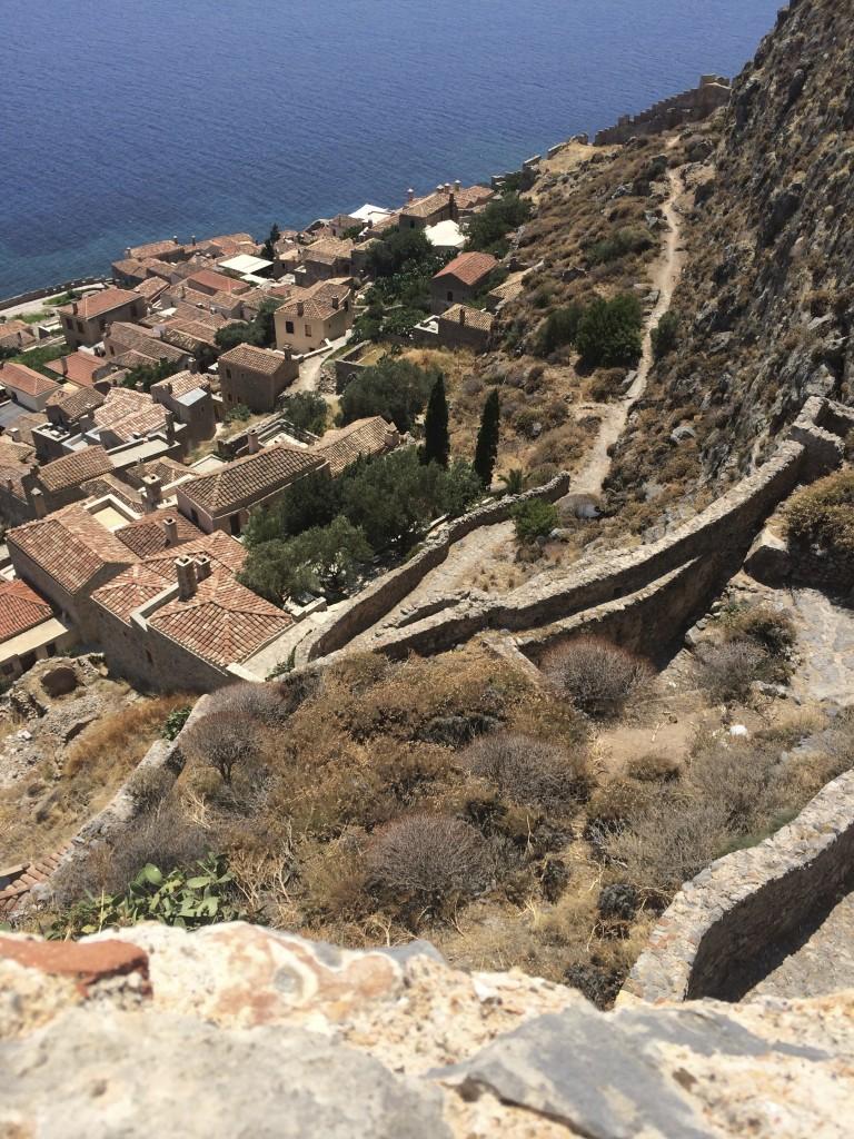 Stunning views from the top of Monemvasia's ancient citadel. Photo credit: Heidi Sarna