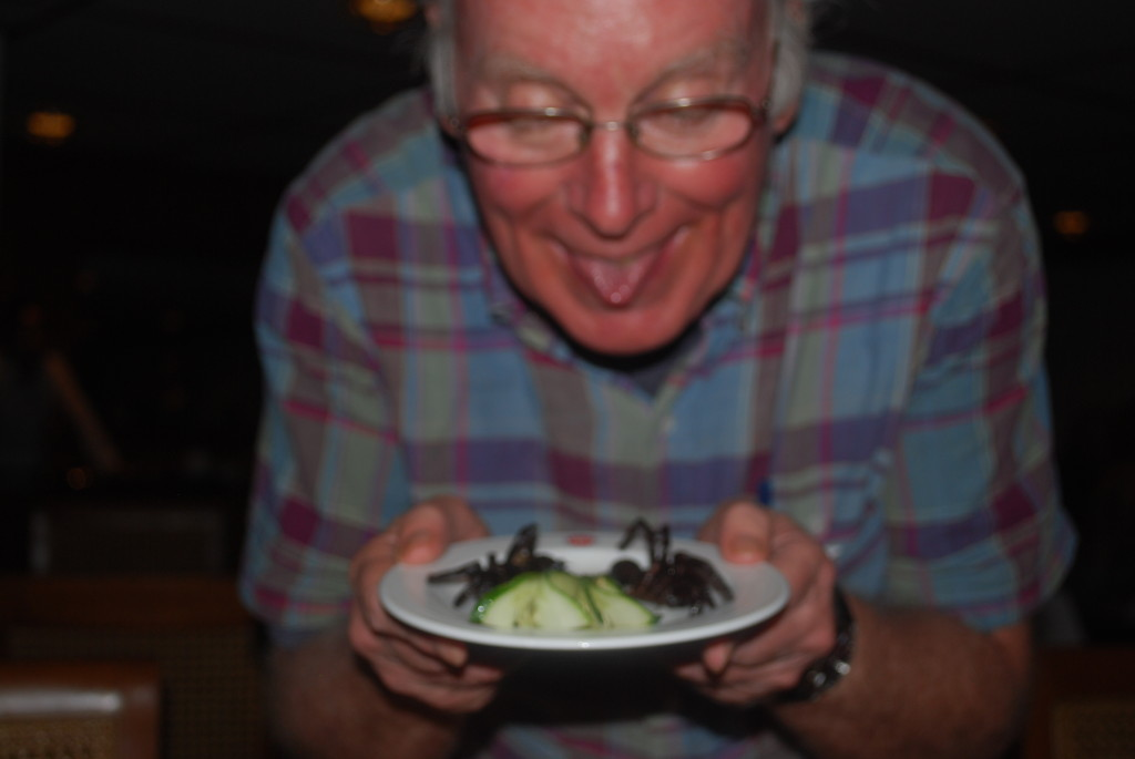 Ted Samples the local flavors! Photo: © Ted Scull