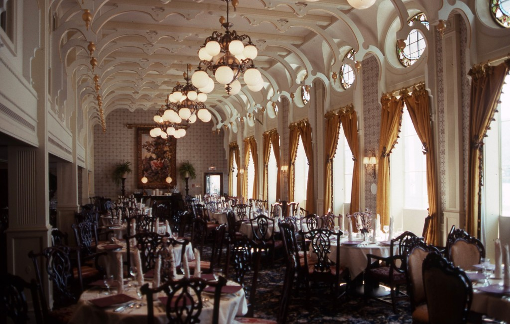 The grand scale of the J.M.White dining room harks back to 19th century American steamboats. * Photo: Ted Scull