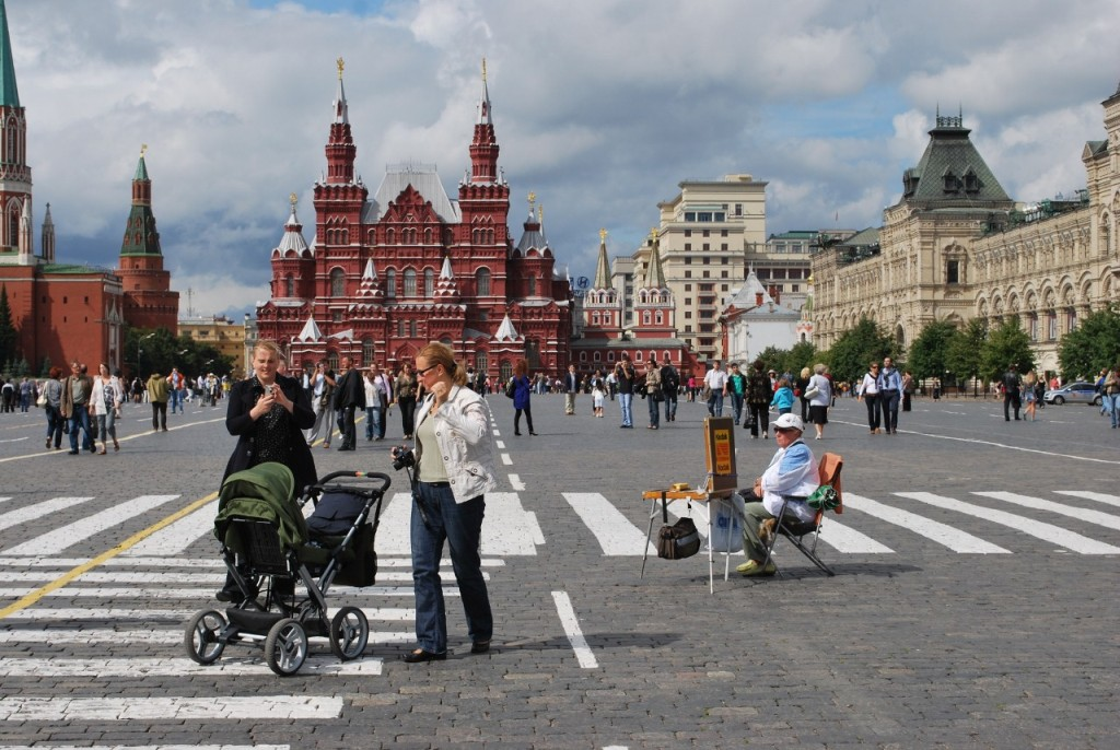 Visiting Moscow's Red Square at the end of Viking River cruise along the Russian waterways.