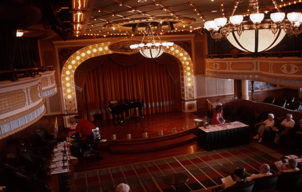 The AMERICAN QUEEN'S theater is modeled on a small-town opera house. * Photo: Ted Scull