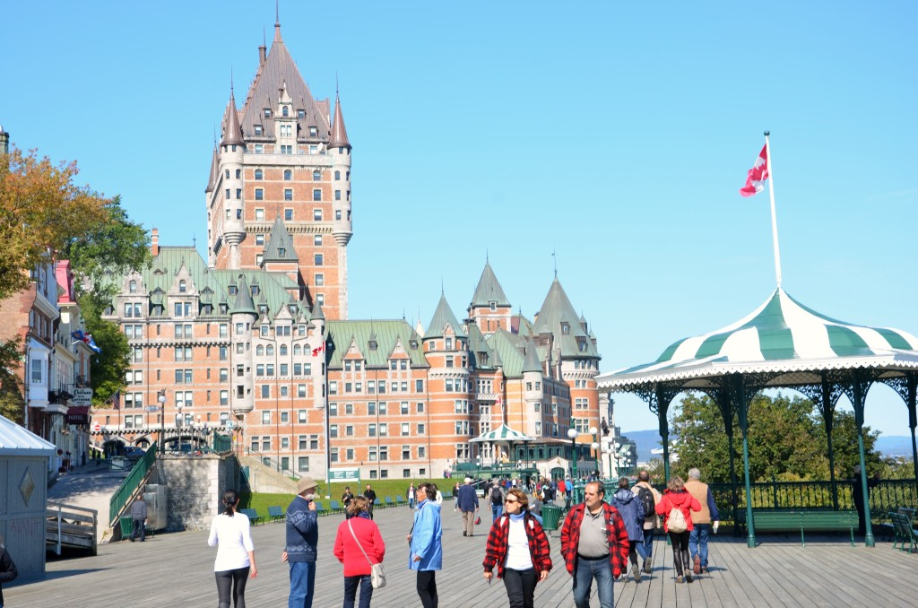 Quebec City's Chateau Frontenac is an absolutely must-see port on a PEARL MIST St. Lawrence River cruise. * Photo: Ted Scull