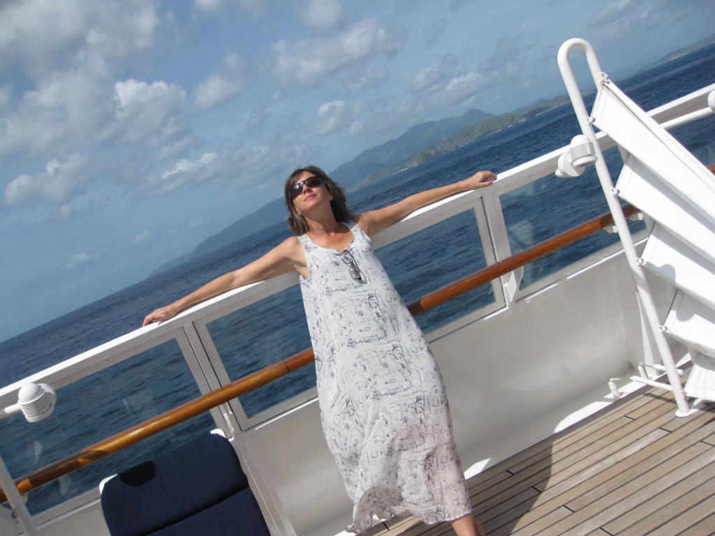 The nimble Sea Dream ships can cruise close to shore. Photo credit: Christina Colon