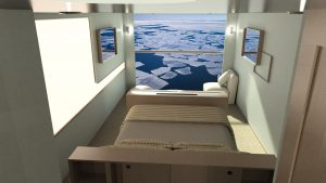 A cabin on the proposed Ulysseas