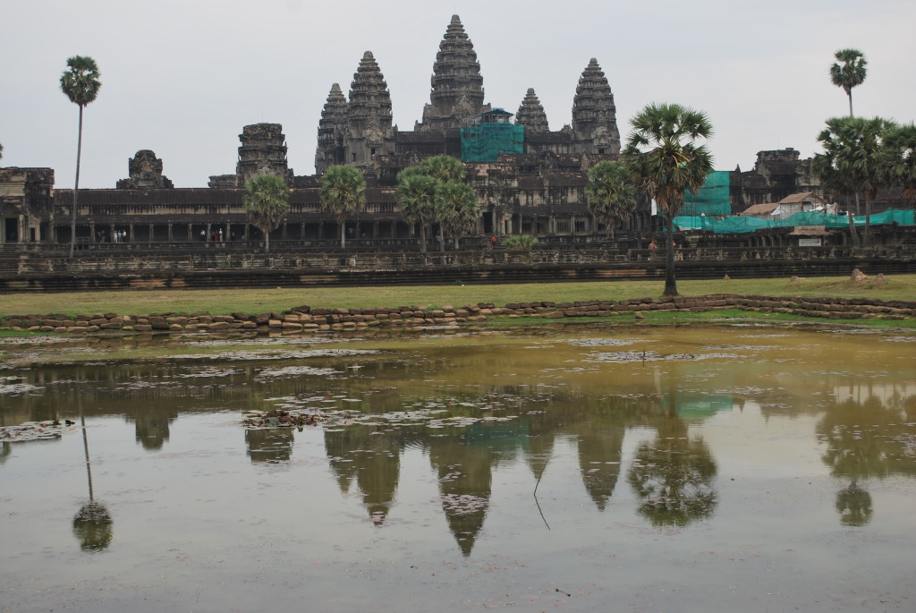 The monumental archaeological site at Angkor Wat, Cambodia is often the first stop on a SoutheastAsia/ Mekong River itinerary.* Ted Scull
