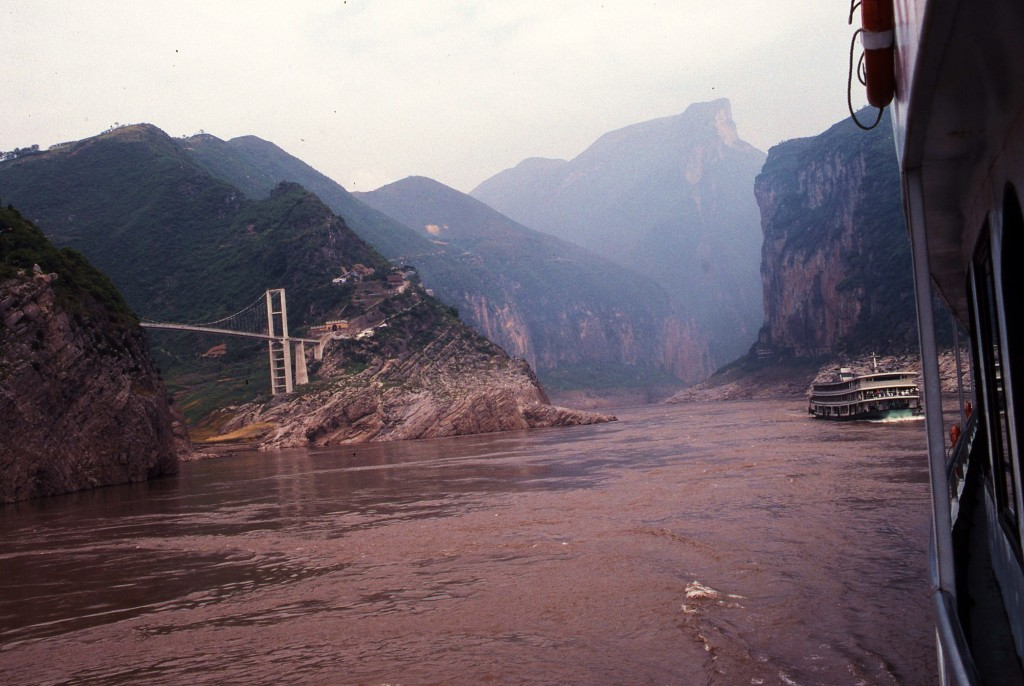 Sailing upstream into the Yangtze's Three Gorges. * Photo: Ted Scull