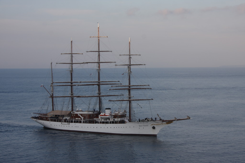 SEA CLOUD approaching Nice. * Photo: William J. Mayes