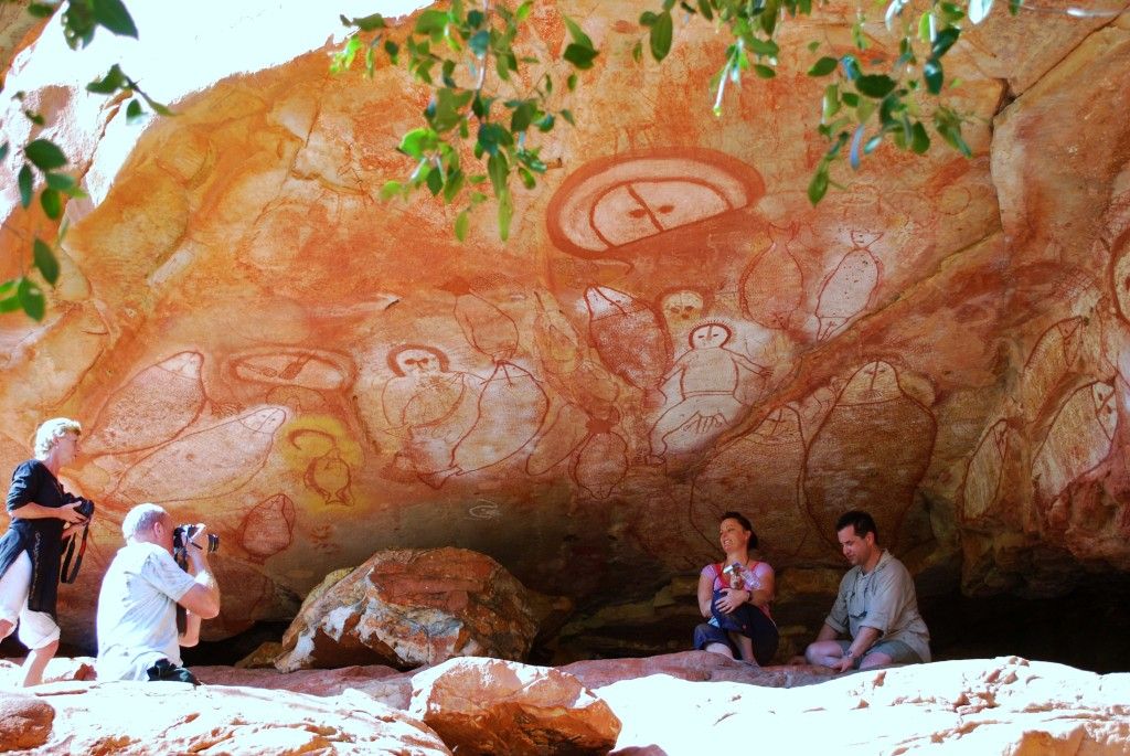 Aboriginal cave paintings Kimberley Coast, Australia. * Photo: Ted Scull