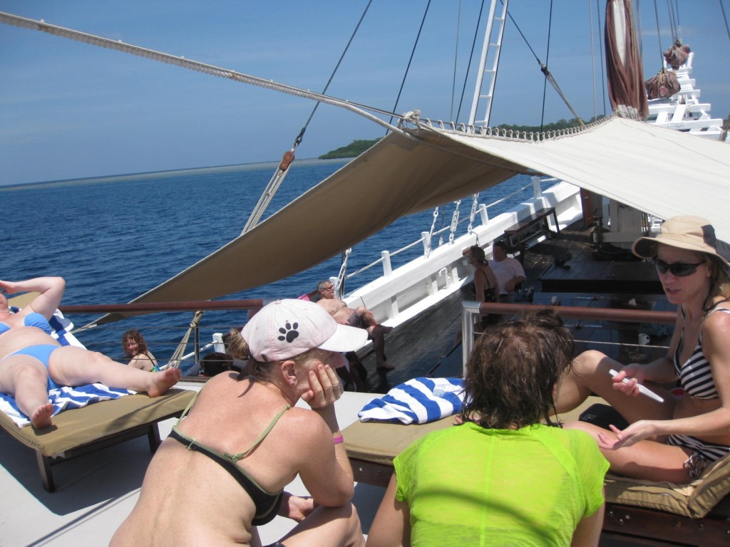 The top deck is the ship's hub. * Photo Credit: Heidi Sarna