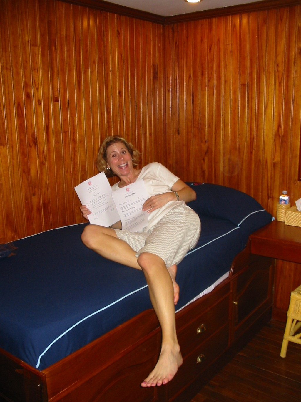 Cabins are wood paneled and very comfortable. * Photo: Heidi Sarna
