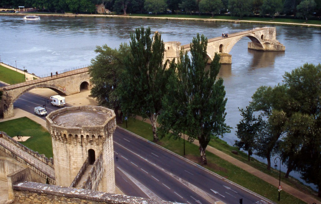 Pont d'Avignon on the Rhone River in France