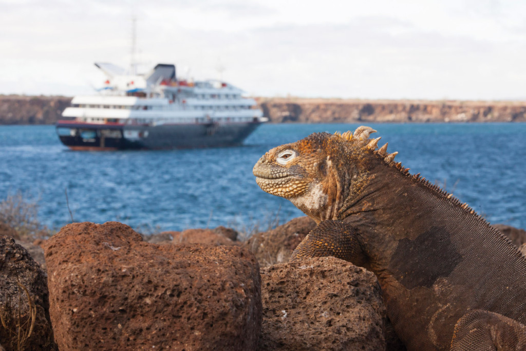 Silver Galapagos gets this close to shore. * Photo: Silversea Cruises