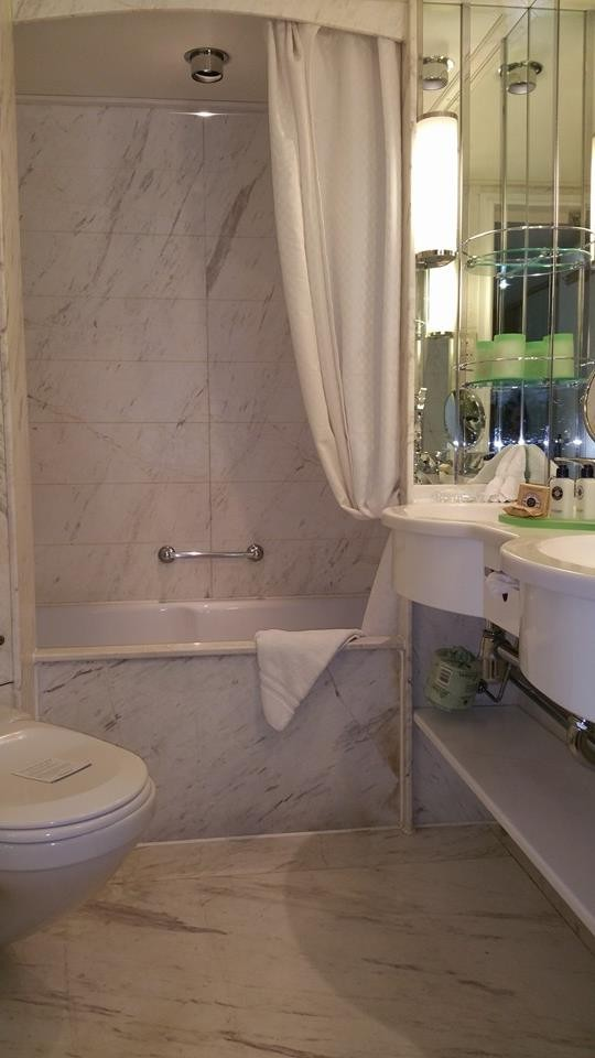 Marble-clad bathrooms on Star Pride. * Photo: Chrissy Colon