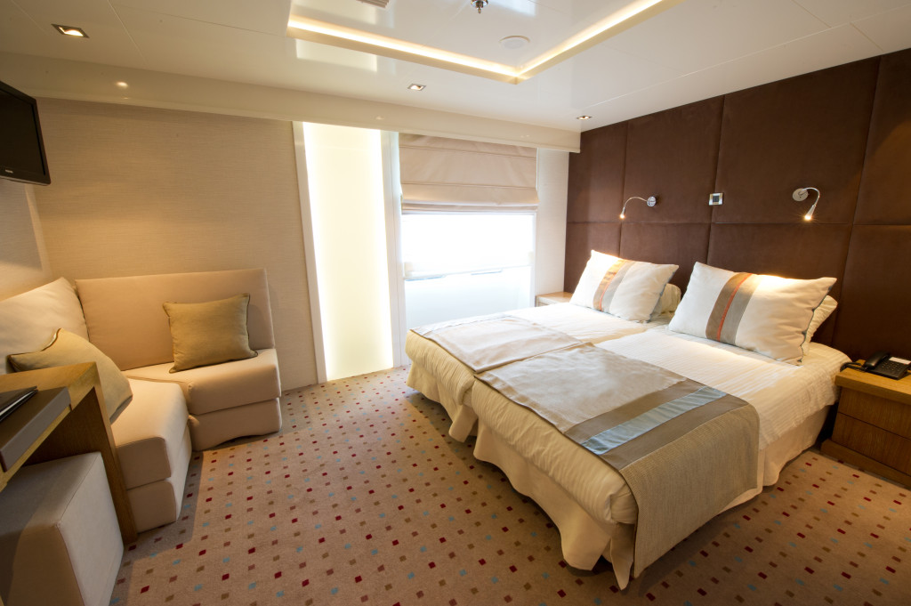 Variety Voyager's very posh Category P Cabin. * Photo: Variety Cruises