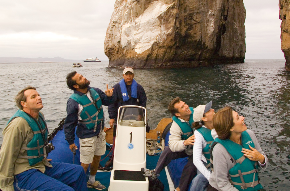 Guided excursions via zodiac boats take passengers close up to scenery and wildlife. * Photo: Celebrity Cruises